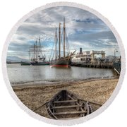 Hyde St.pier, San Francisco Round Beach Towel