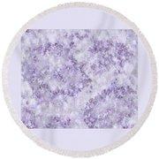 Hydrangea Digital In Lilac Round Beach Towel