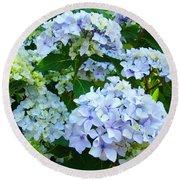 Hydrangea Garden Landscape Flower Art Prints Baslee Troutman Round Beach Towel