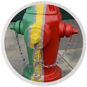 Hydrant With A Facelift Round Beach Towel
