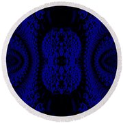Hyper Tidal Blue Round Beach Towel
