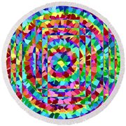 Hypnotic Round Beach Towel