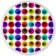 Hypnotized Optical Illusion Round Beach Towel