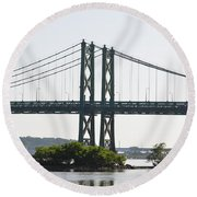 I-74 Bridge Round Beach Towel