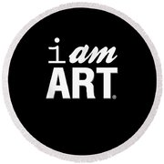 I Am Art- Shirt Round Beach Towel by Linda Woods