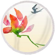i Am Flying To You Round Beach Towel
