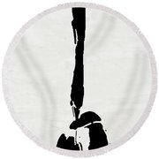 I Am Here Round Beach Towel
