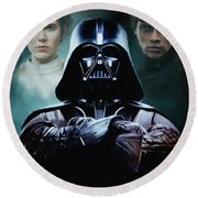 I Am Your Father Round Beach Towel