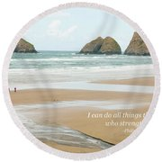 I Can Do All Things Through Christ Round Beach Towel
