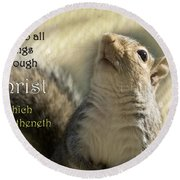 I Can Do It Round Beach Towel