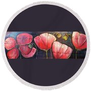 I Choose To Live A Life Of Purpose Poppies Round Beach Towel