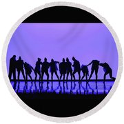 I Don't Let You Down Round Beach Towel