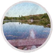 I Dreamed Of A Lake Round Beach Towel
