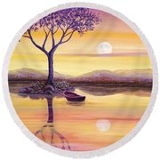 I Dreamt Of The Moon Round Beach Towel
