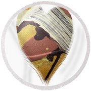 I Give You My Heart Round Beach Towel