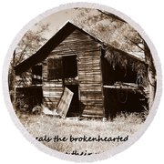 I Have Seen Better Days Psalm 147 3 Sepia Round Beach Towel