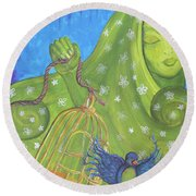 I Know Why The Caged Bird Sings Pro Round Beach Towel