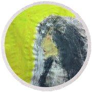 I Love That Yellow Round Beach Towel