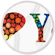 I Love You 14 - Heart Hearts Romantic Art Round Beach Towel