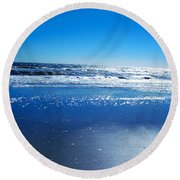 I Love You Round Beach Towel