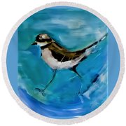 I See You Said The Killdeer As She Passed By Round Beach Towel