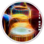 I Sing The Drums Electric Round Beach Towel