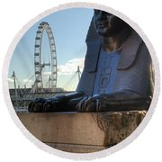I Sphinx It Is The London Eye Round Beach Towel