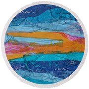 I Trusted - Psalm 116-10 Round Beach Towel