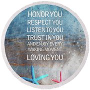 I Vow To... Round Beach Towel