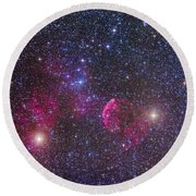 Ic 443 Supernova Remnant In Gemini Round Beach Towel