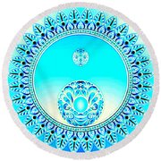 Ice Round Beach Towel