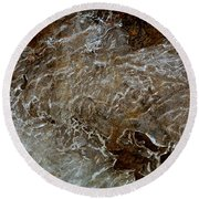 Ice And Rock Abstract Round Beach Towel