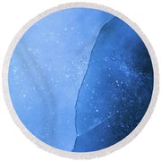 Ice Art #226 Round Beach Towel