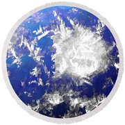 Ice Burst Round Beach Towel