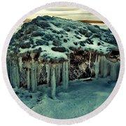Ice Cave Of Stones Round Beach Towel