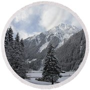 Ice Cold But Beautiul Round Beach Towel