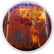 Ice Cold Coca Cola Round Beach Towel