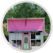 Ice Cream Parlor Round Beach Towel