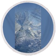 Ice Crystals Round Beach Towel