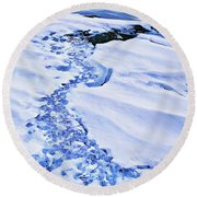 Ice Cube Creek Round Beach Towel