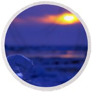 Ice Cube Sky Round Beach Towel