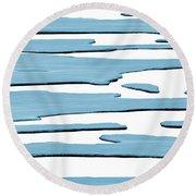 Ice Flow Round Beach Towel