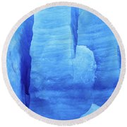 Ice Formations  Round Beach Towel