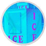 Ice Ice Baby Round Beach Towel