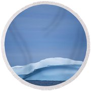 Ice In Blue Round Beach Towel