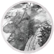 Ice In The Forest  Round Beach Towel
