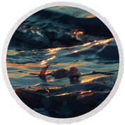 Ice In The Light 2  Round Beach Towel