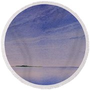 Ice Lake Round Beach Towel