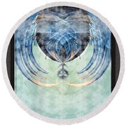 Ice Layered Effect And Framed Round Beach Towel