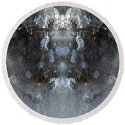Ice Mass Two  Round Beach Towel